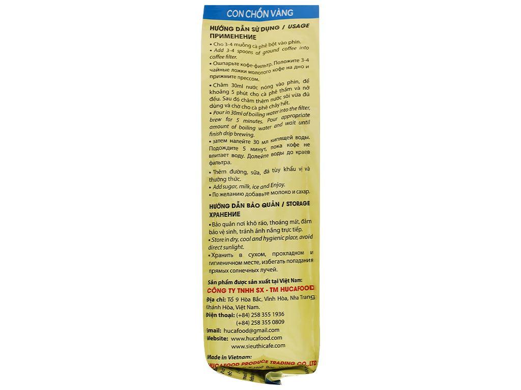 Cà phê rang xay nguyên chất Con chồn vàng Cacao - Chocolate 500g 4