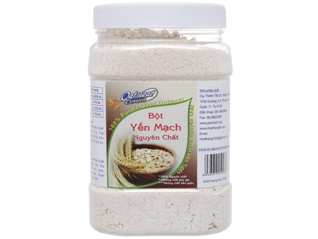 Bột yến mạch nguyên chất Oatmeal Cereal hộp 500g 1