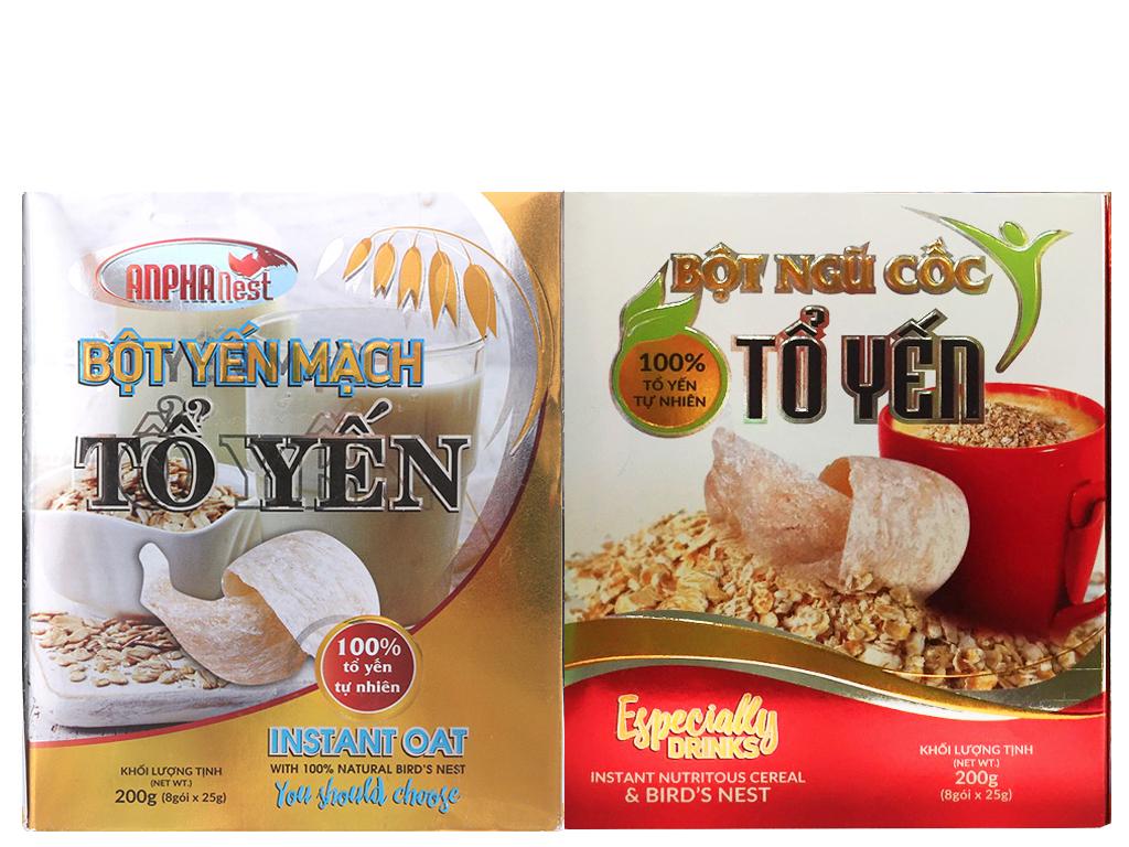 Bột yến mạch tổ yến Anpha hộp 200g (Tặng 1 hộp Bột ngũ cốc tổ yến 200g) 1