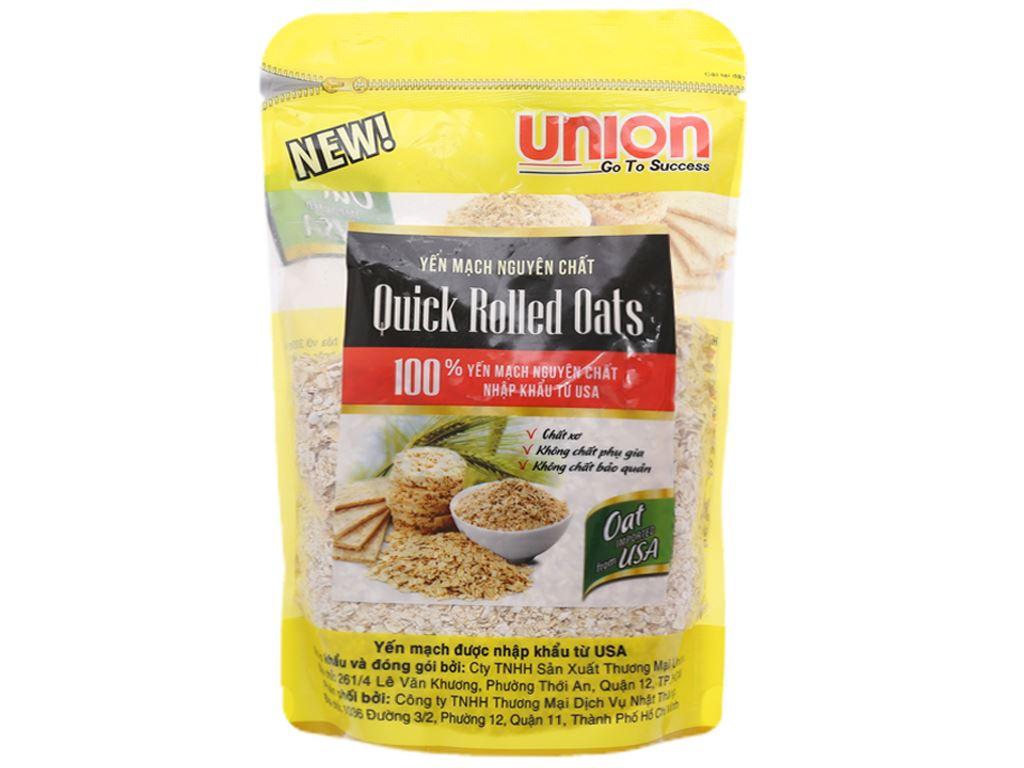 Yến mạch nguyên chất Union Quick Rolled Oats bịch 200g 1