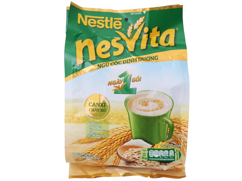Ngũ cốc dinh dưỡng Nestlé Nesvita bổ sung canxi bịch 400g 2