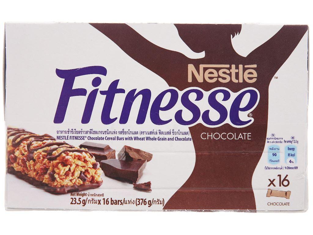 Ngũ cốc Nestlé Fitnesse vị socola hộp 376g 2