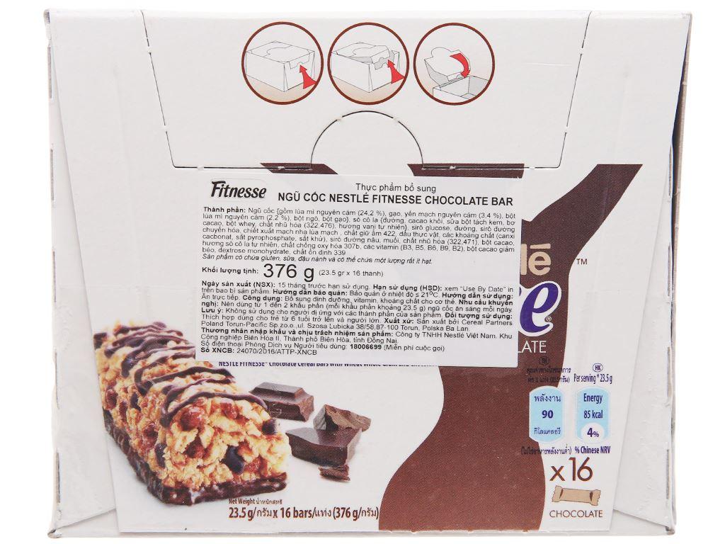 Ngũ cốc Nestlé Fitnesse vị socola hộp 376g 3