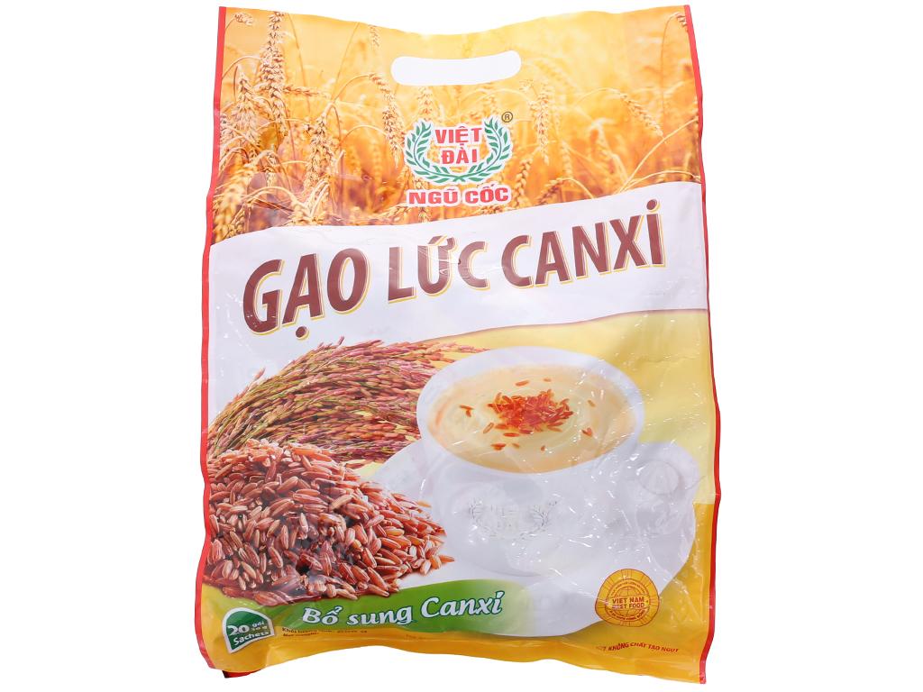 Bột ngũ cốc gạo lức Việt Đài Bổ sung canxi bịch 600g 2