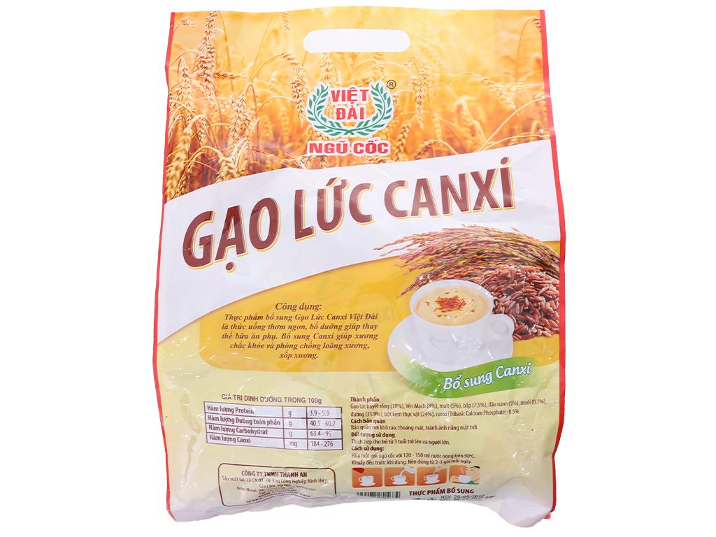 Bột ngũ cốc gạo lức Việt Đài Bổ sung canxi bịch 600g 3
