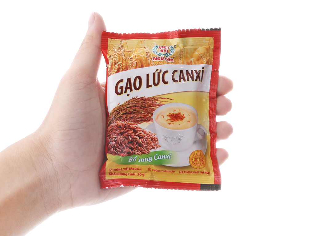 Bột ngũ cốc gạo lức Việt Đài Bổ sung canxi bịch 600g 5