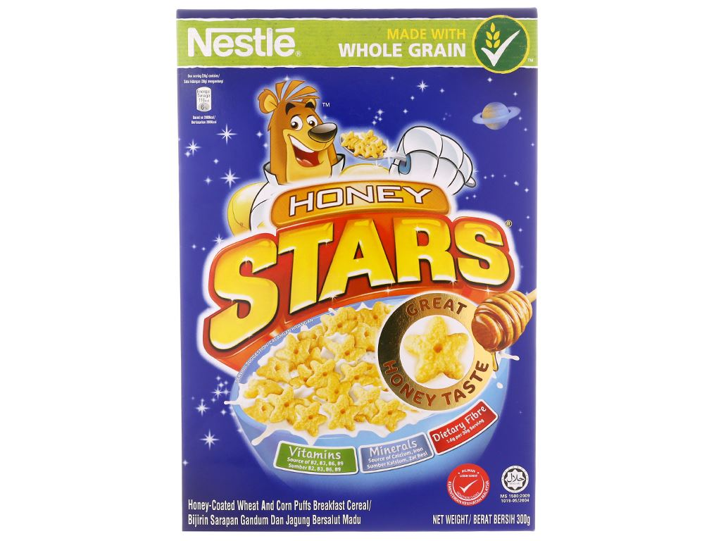 Ngũ cốc Nestlé Honey Stars hộp 300g 2