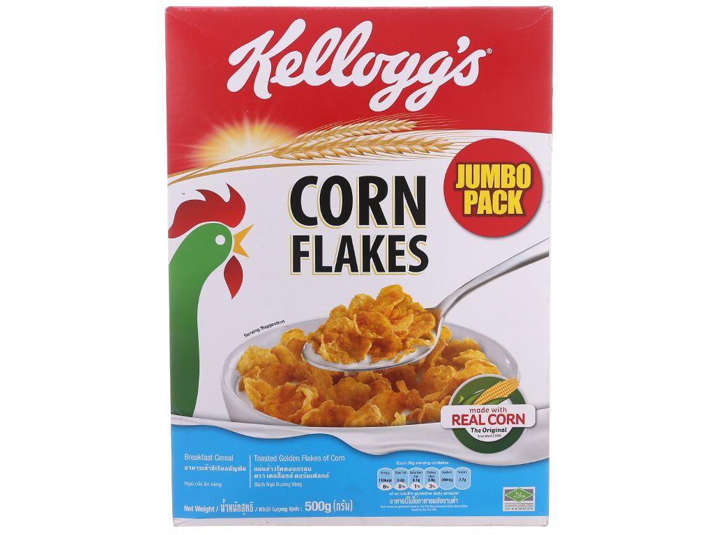 Ngũ cốc Kellogg's Corn Flakes vị bắp hộp 500g 2
