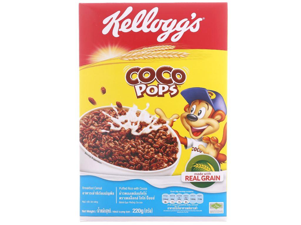 Ngũ cốc Kellogg's Coco Pops vị socola hộp 220g 2
