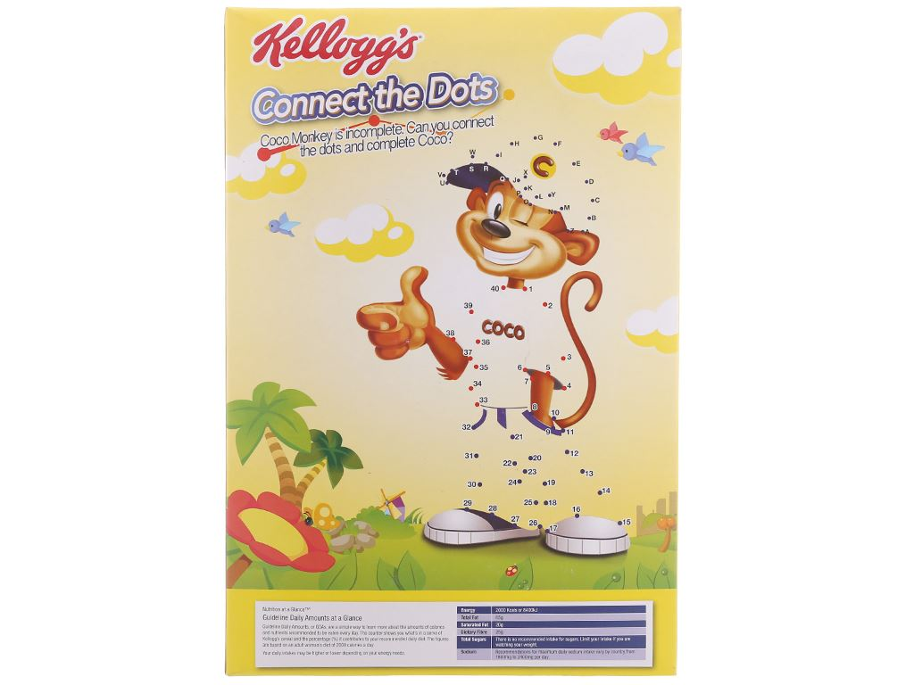 Ngũ cốc Kellogg's Coco Pops vị socola hộp 220g 3