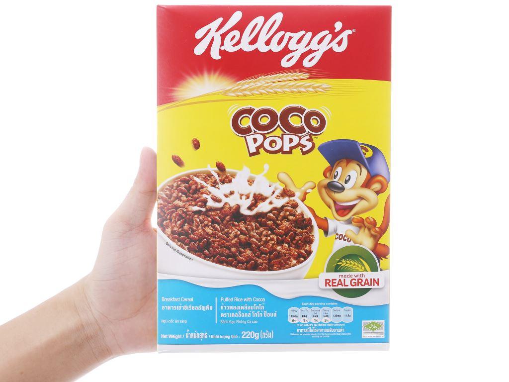 Ngũ cốc Kellogg's Coco Pops vị socola hộp 220g 5