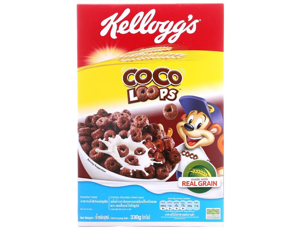 Ngũ cốc Kellogg's Coco Loops vị socola hộp 330g 2