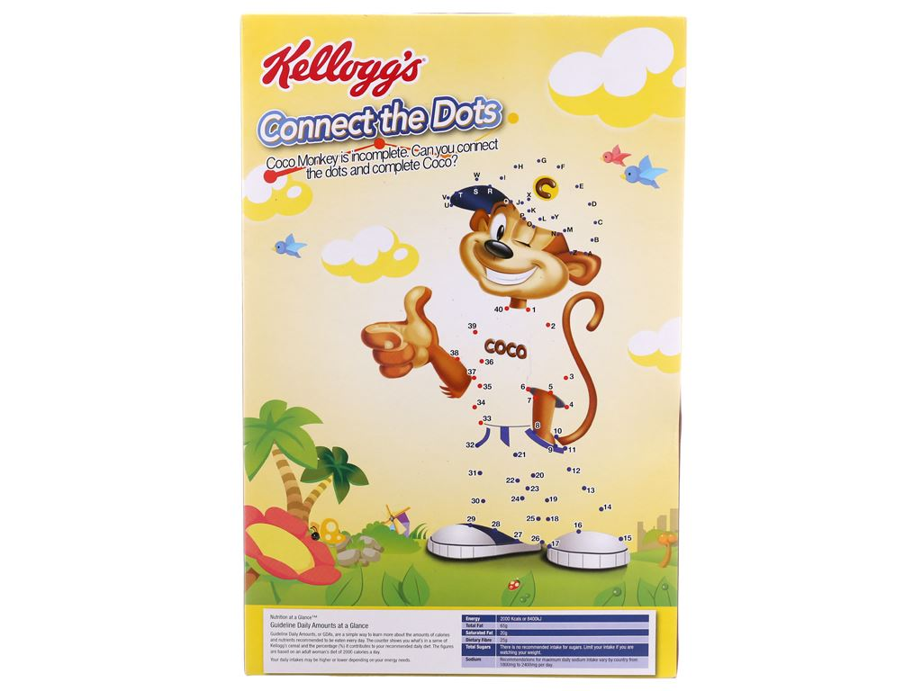 Ngũ cốc Kellogg's Coco Loops vị socola hộp 330g 3