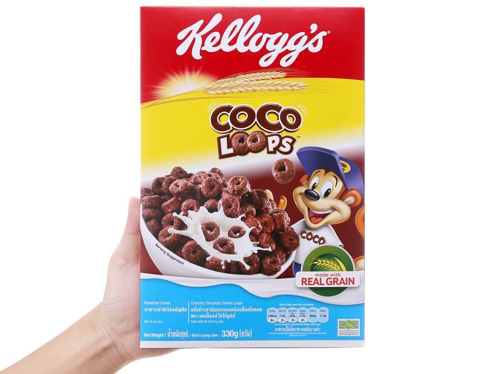Ngũ cốc Kellogg's Coco Loops vị socola hộp 330g 5