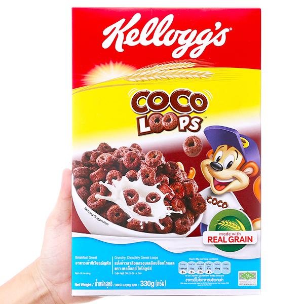 Ngũ cốc Kellogg's Coco Loops vị socola hộp 330g