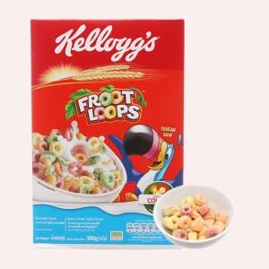 Ngũ cốc dinh dưỡng Kellogg's Froot Loops vị trái cây hộp 300g