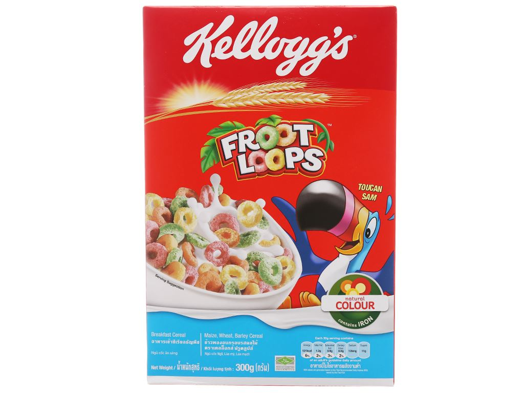 Ngũ cốc Kellogg's Froot Loops hộp 300g 2