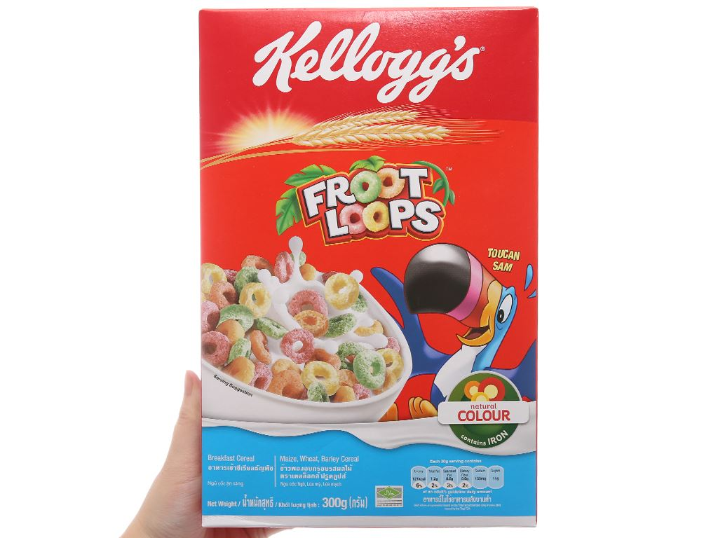 Ngũ cốc Kellogg's Froot Loops hộp 300g 4