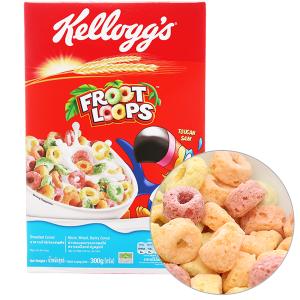 Ngũ cốc Kellogg's Froot Loops vị trái cây hộp 300g