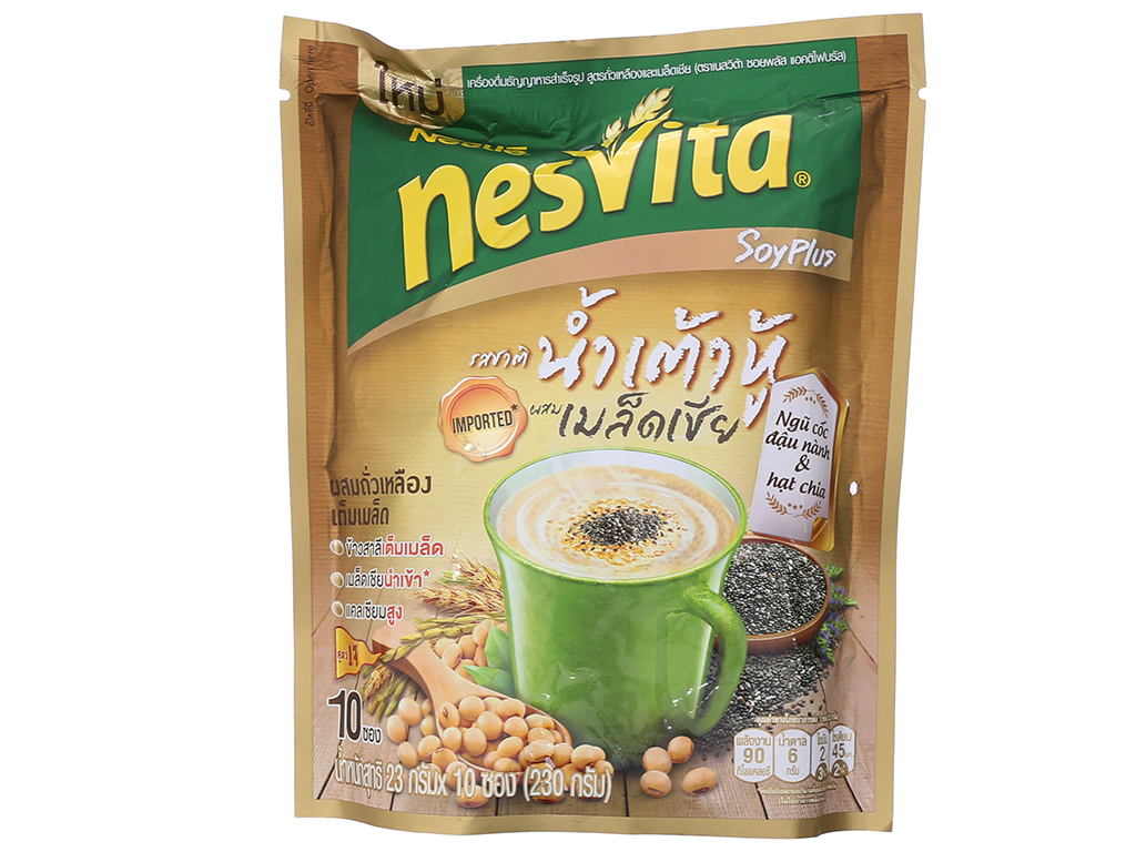 Ngũ cốc dinh dưỡng Nesvita Đậu nành và hạt chia bịch 230g 2