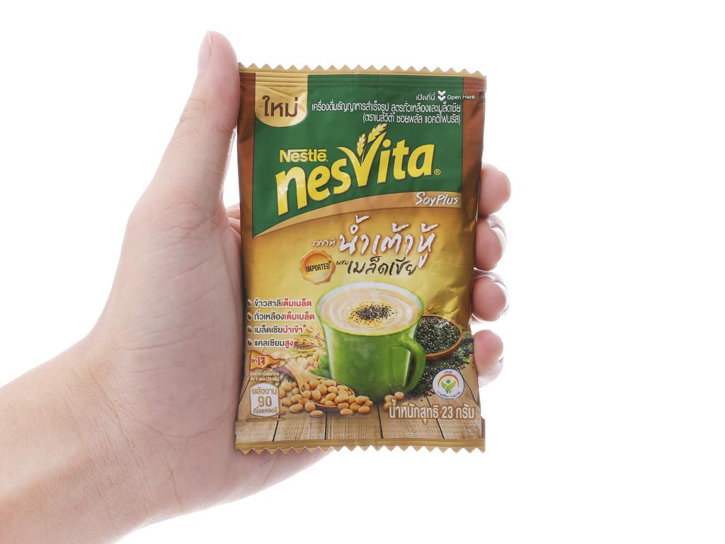 Ngũ cốc dinh dưỡng Nesvita Đậu nành và hạt chia bịch 230g 4
