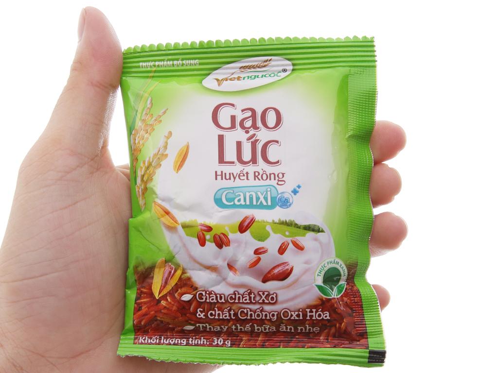 Bột gạo lức Việt Ngũ Cốc Huyết rồng bịch 600g 4