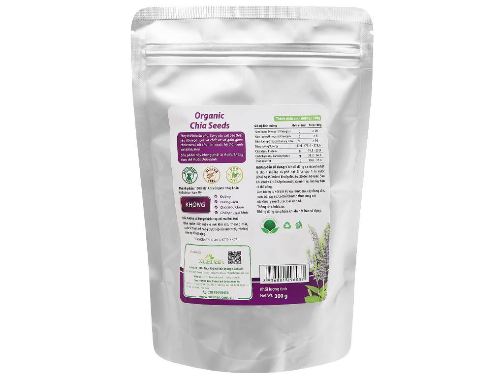 Hạt chia Organic Xuân An bịch 300g 5