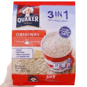Thức uống yến mạch 3 trong 1 Quaker vị truyền thống bịch 420g