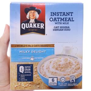 Yến mạch ăn liền Quaker Milky Delight hộp 180g