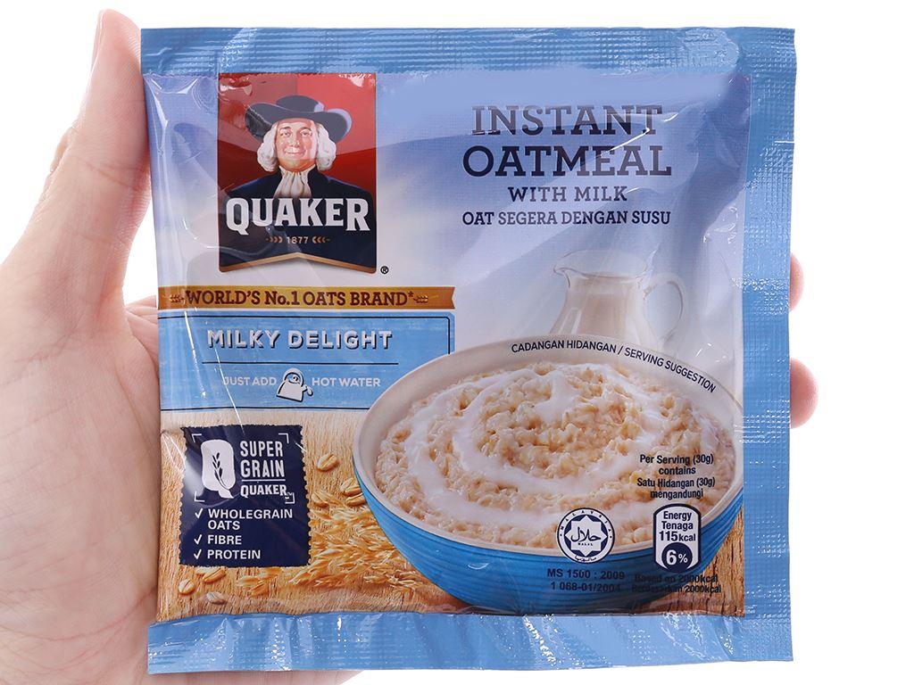 Yến mạch ăn liền Quaker Milky Delight hộp 180g 4