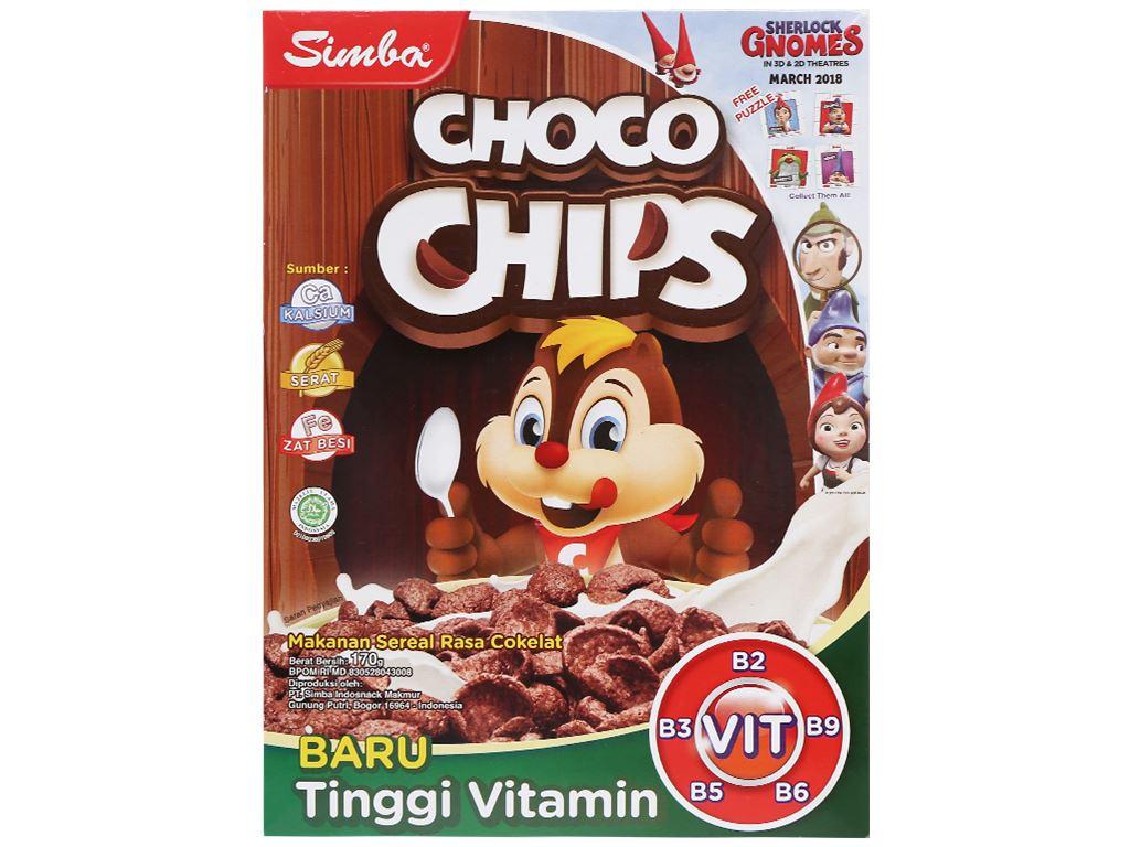 Bánh ngũ cốc Simba Choco Chips hộp 170g 1
