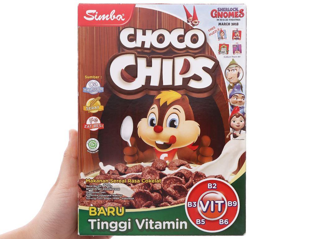 Bánh ngũ cốc Simba Choco Chips hộp 170g 4