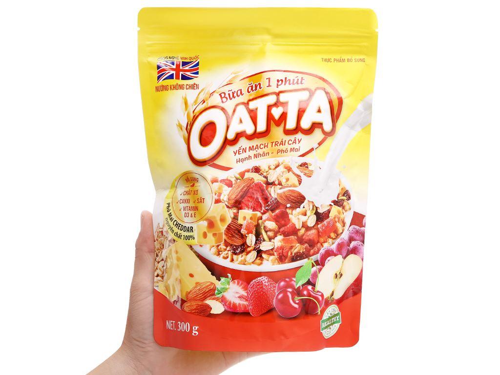Yến mạch trái cây hạnh nhân, phô mai Oatta gói 300g 4
