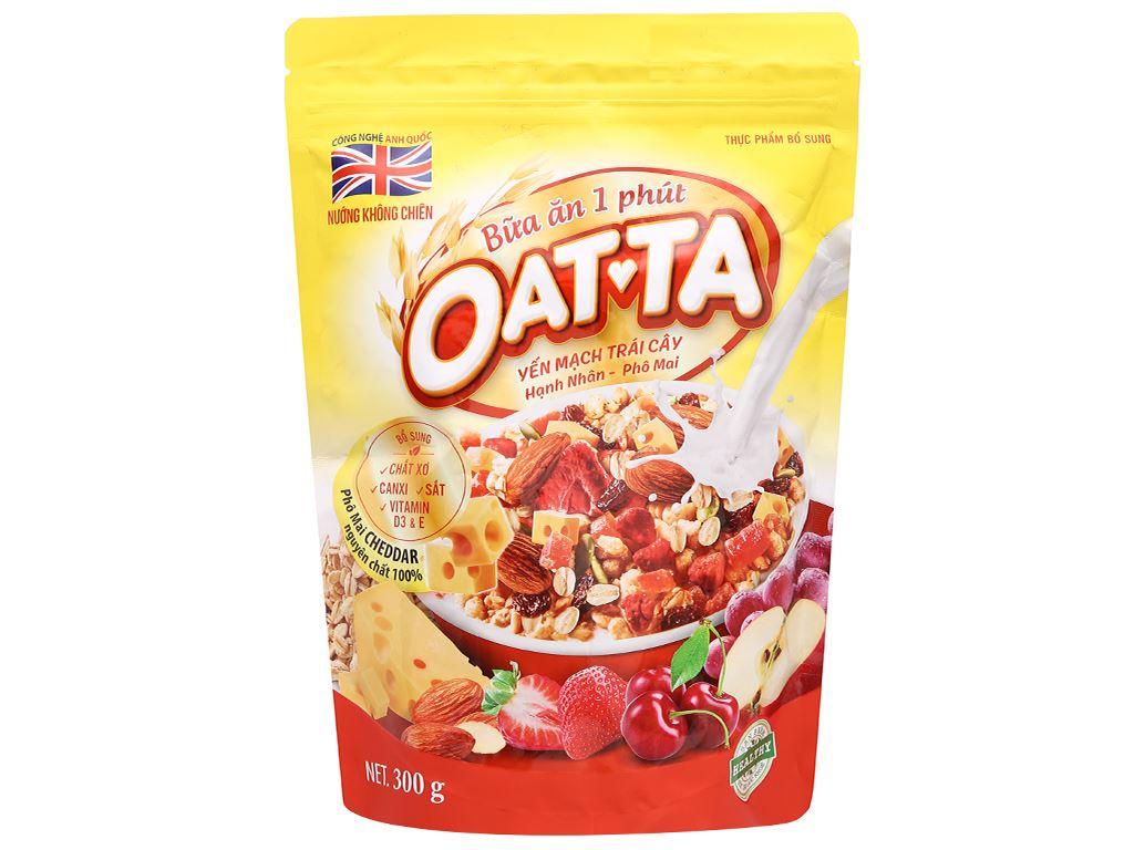 Yến mạch trái cây hạnh nhân, phô mai Oatta gói 300g 1