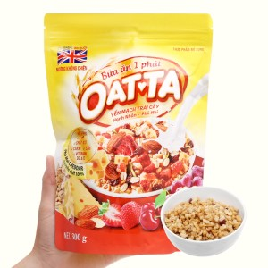 Yến mạch trái cây hạnh nhân, phô mai Oatta gói 300g
