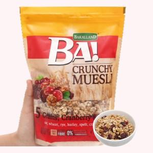 Ngũ cốc Bakalland Muesli 5 loại hạt lúa mạch và mật ong gói 300g