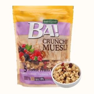 Ngũ cốc Bakalland Muesli 5 loại trái cây rừng và mật ong gói 300g