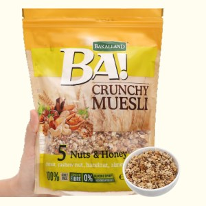 Ngũ cốc Bakalland Muesli 5 loại hạt và mật ong gói 300g