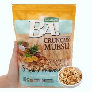Ngũ cốc Bakalland Muesli 5 loại trái cây nhiệt đới và mật ong gói 300g