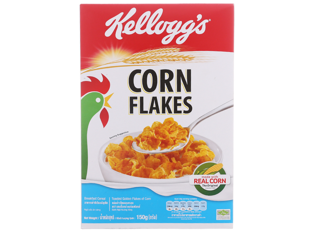 Ngũ cốc Kellogg's Corn Flakes vị bắp hộp 150g 2