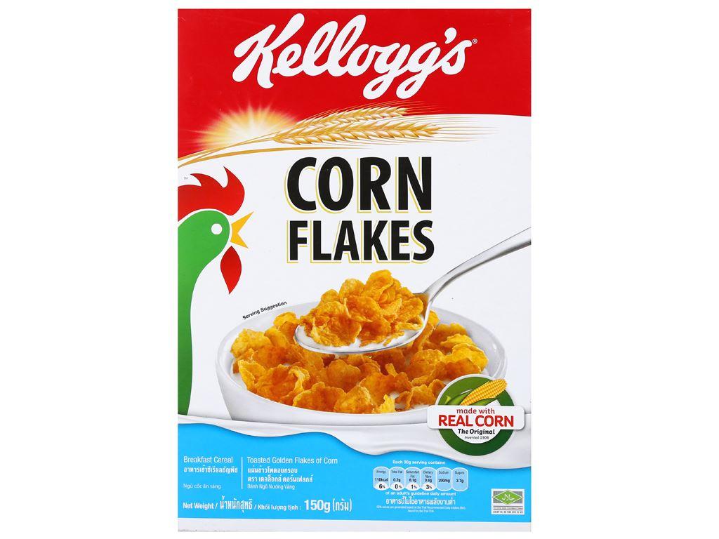 Ngũ cốc Kellogg's Corn Flakes vị bắp hộp 150g 6