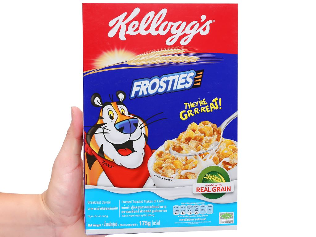 Ngũ cốc Kellogg's Frosties vị bắp hộp 175g 5