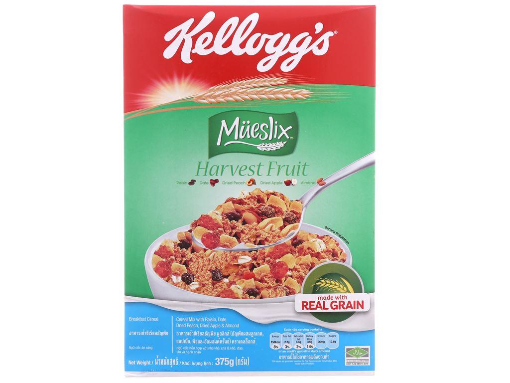 Ngũ cốc trộn trái cây khô Kellogg's Mueslix Harvest Fruit hộp 375g 2