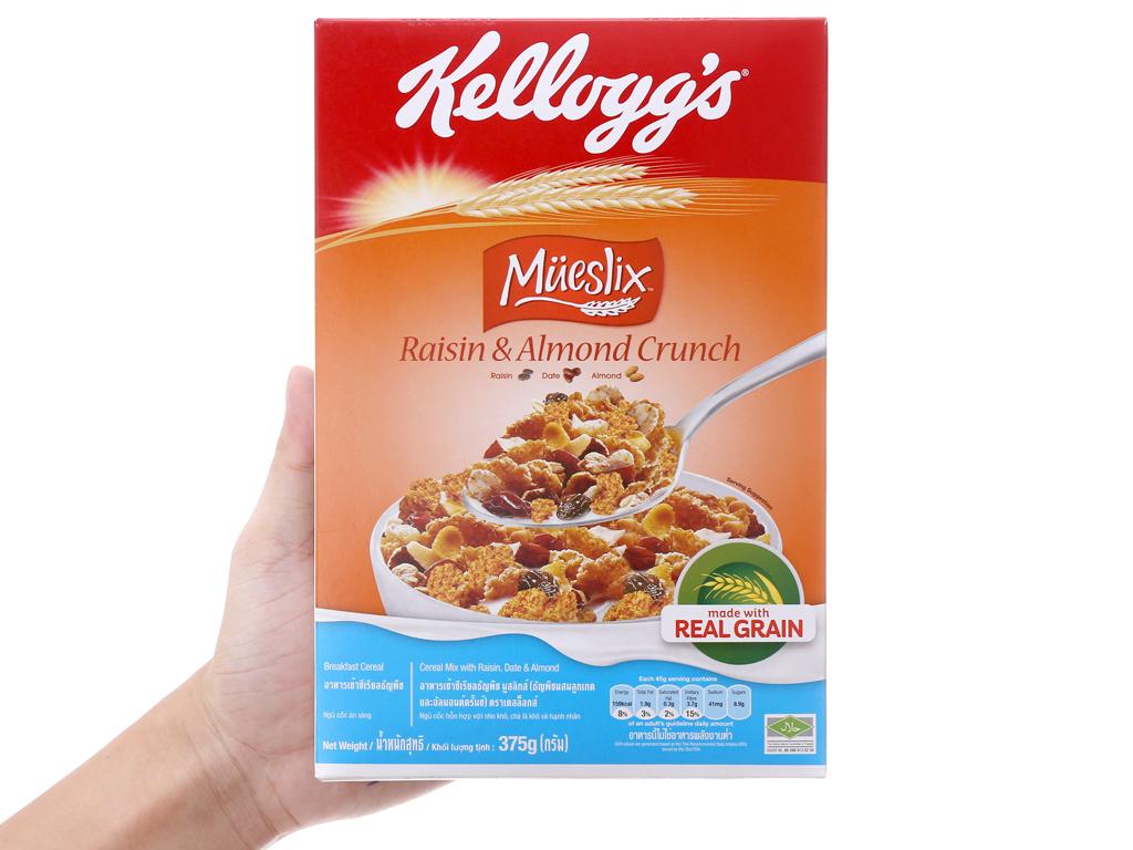 Ngũ cốc Kellogg's Mueslix vị nho khô hạnh nhân hộp 375g 5