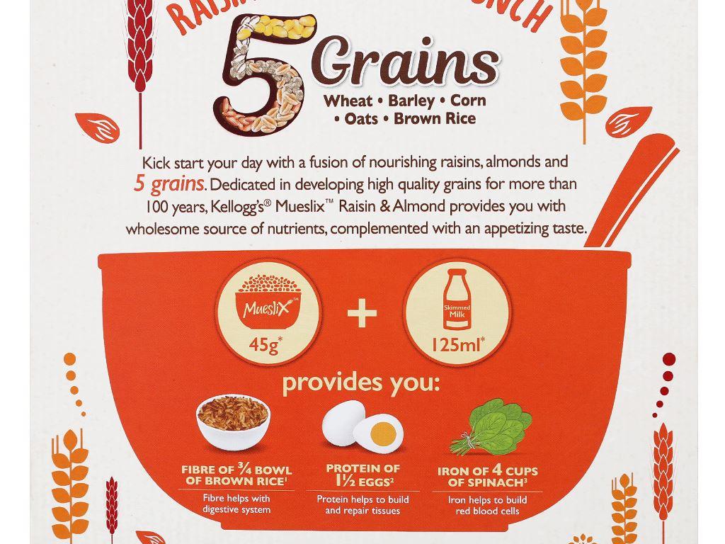 Ngũ cốc Kellogg's Mueslix vị nho khô hạnh nhân hộp 375g 7
