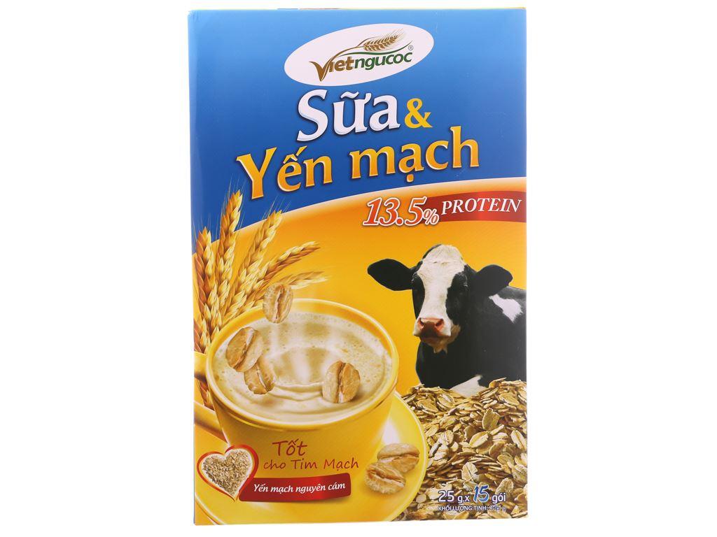 Sữa và yến mạch Việt Ngũ Cốc bịch 375g 2
