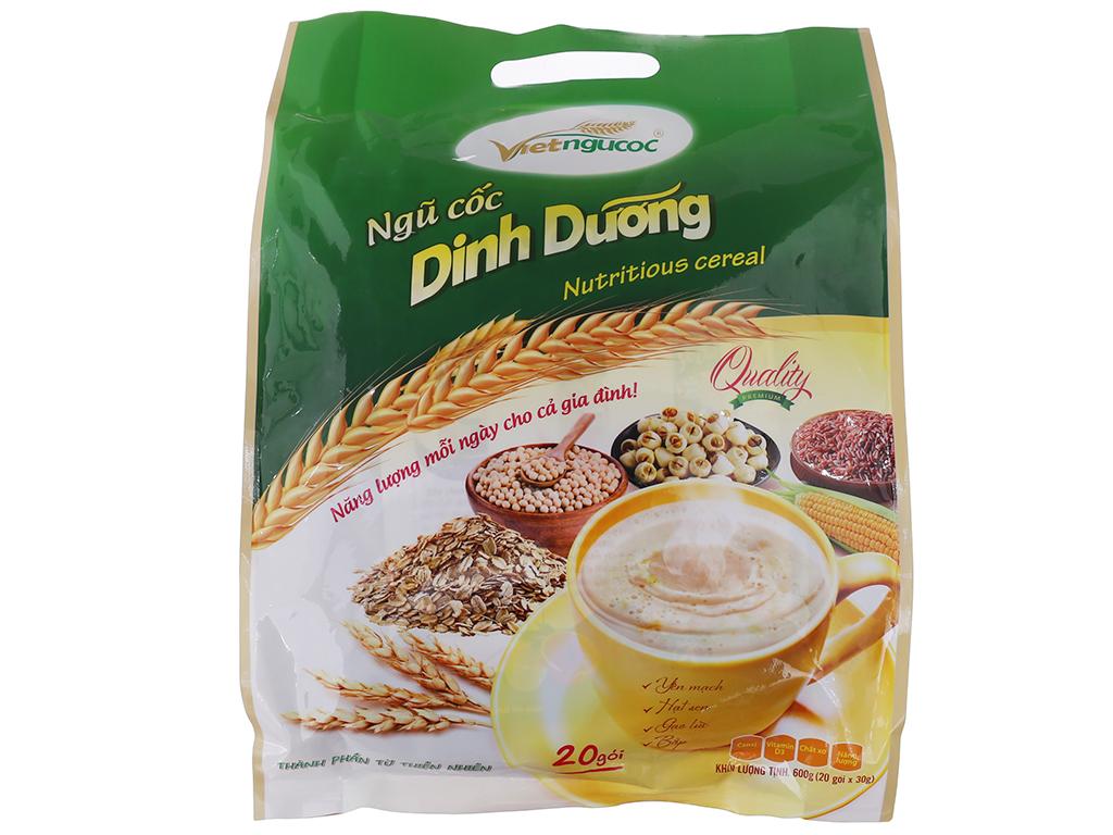 Ngũ cốc dinh dưỡng Việt Ngũ Cốc Yến mạch, hạt sen, gạo lức, bắp bịch 600g 2