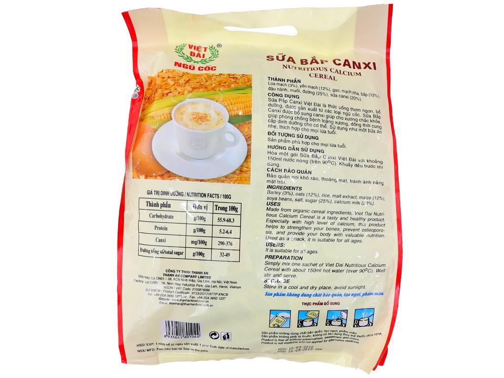 Ngũ cốc Việt Đài Sữa bắp canxi bịch 600g 3