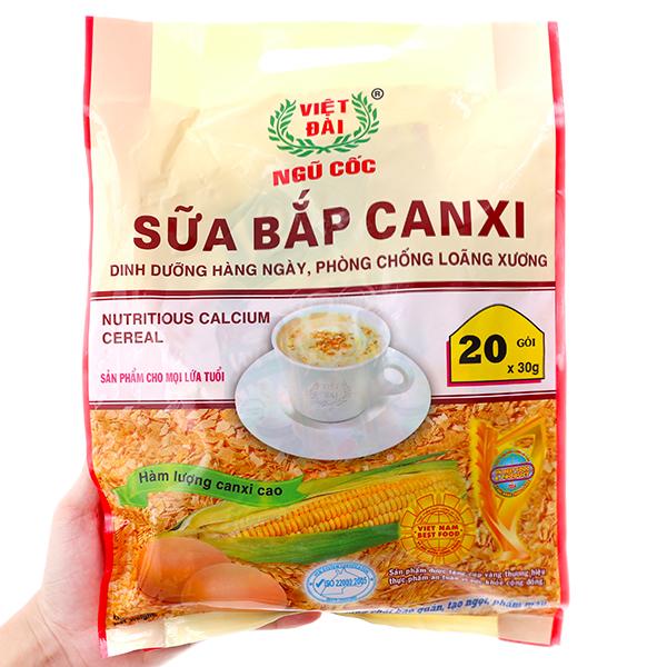 Ngũ cốc Việt Đài Sữa bắp canxi bịch 600g
