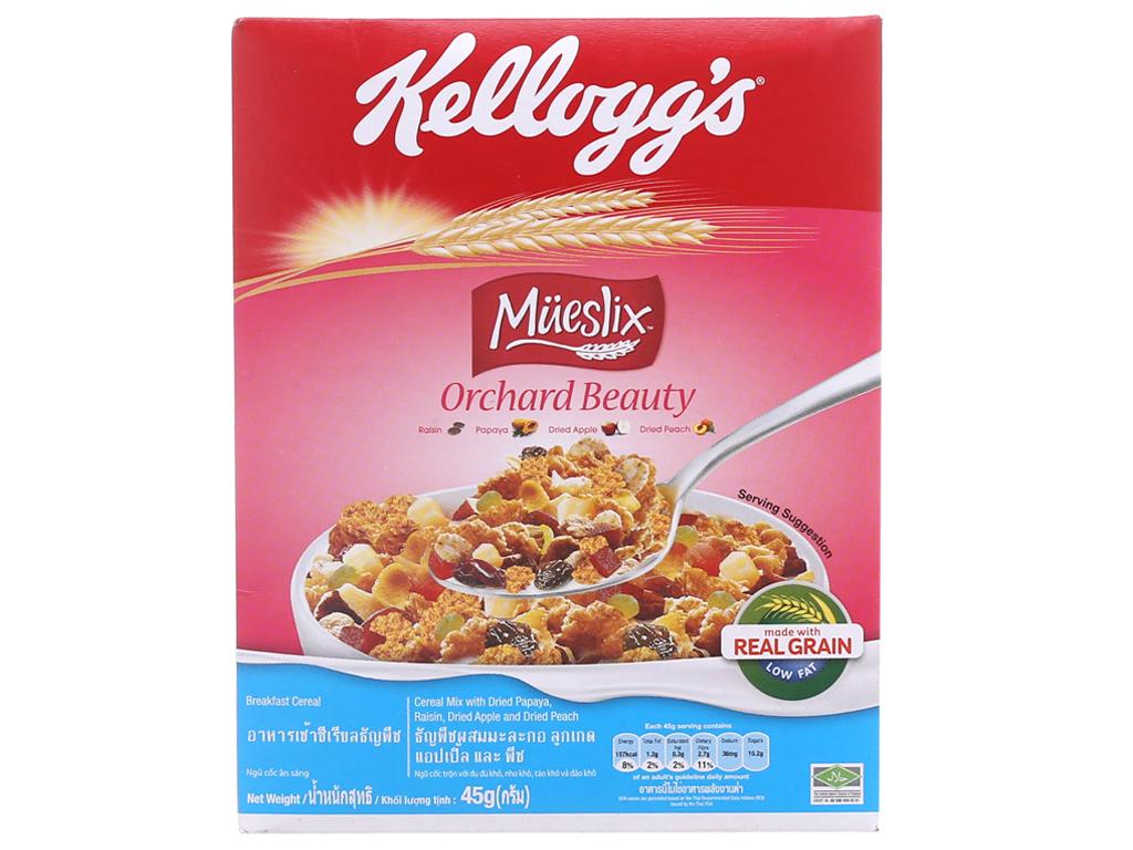 Ngũ cốc trộn trái cây khô Kellogg's Mueslix Orchard Beauty hộp 45g 2
